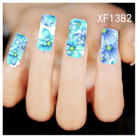 3PCS Fashion Charm Flower Colorful Designs Tips Watermark Nail Art Stickers Water Transfer Decals Manicure Decor Tools