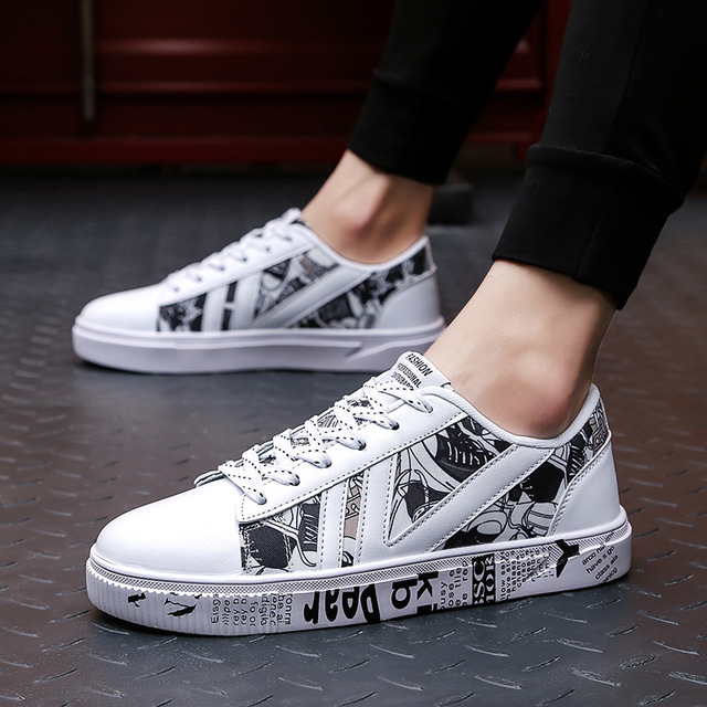 ab6829dcc09 US $13.92 35% OFF|Aliexpress.com : Buy 2019 Spring Summer Canvas Shoes Men  Sneakers Low top Print Shoes tenis masculino Men's Casual Shoes Male Brand  ...