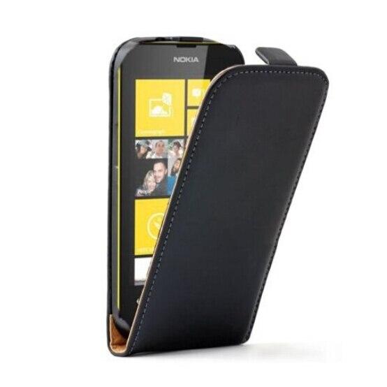 Новый черный Магнитная Застежка чехол сотового телефона кобура Вертикальный флип кожаный чехол для <font><b>Nokia</b></font> Lumia 520