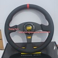 Free Shipping: 330mm Flat OMP Racing Steering Wheel Game Steering Wheel