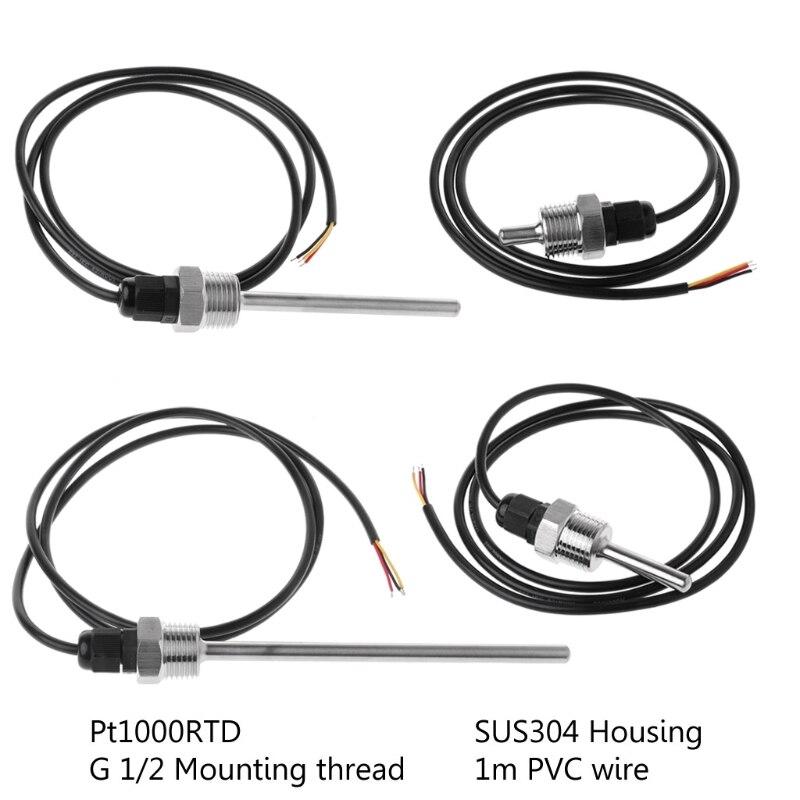 NTC 20K Sonde de Température PVC Câble 1M 2M Capteur Résistance Thermistance