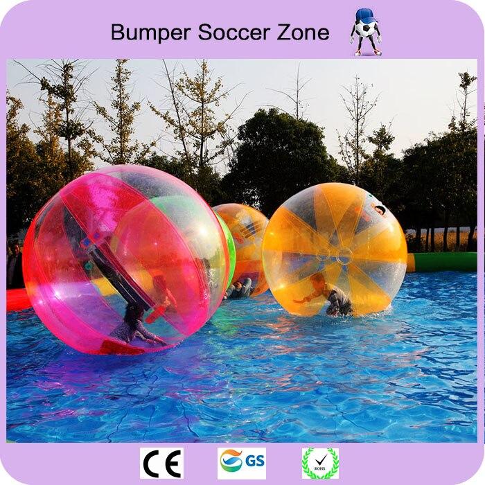 Livraison gratuite 2 m boule à bulles d'eau colorée gonflable balles de marche de l'eau balles Anti-Stress gonflables géantes
