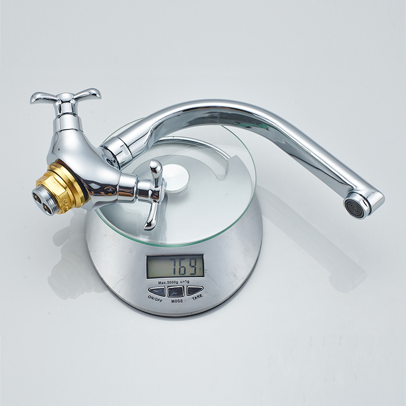 Dikalan Basin Faucet Polished Chrome Fixed Rotatable Type Dual ...