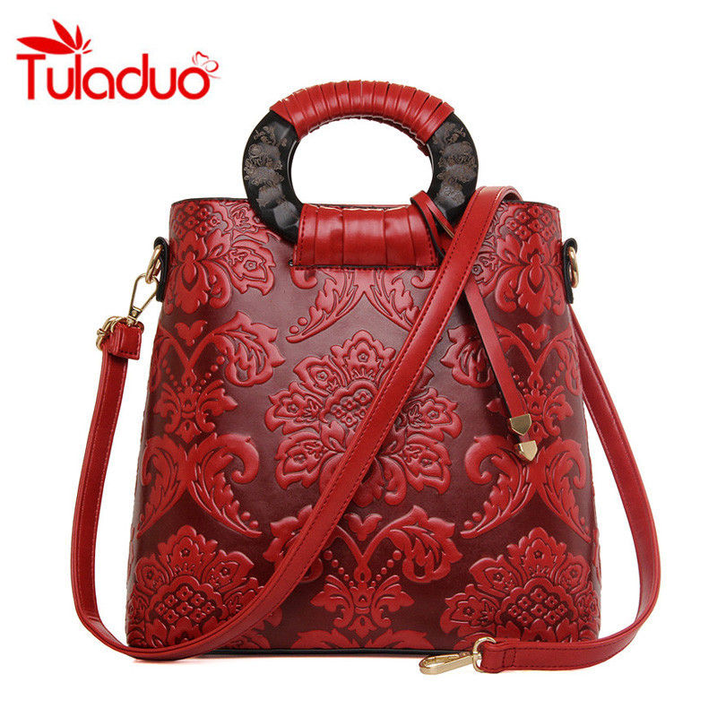 national chinese style handbags patent leather bag tote bolsa bags new fashion flowers ladies printing women female handbag 2017 New Fashion Chinese Style Women's Printing Handbags Women Shoulder Bags Femme Crossbody Bag Ladies Handbag Totes Clutch Sac