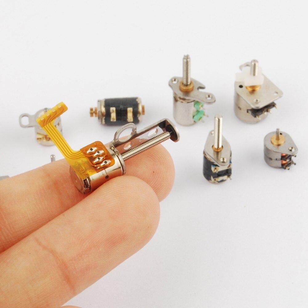 50 шт. 3-5 в постоянного тока 10 видов 4 провода 2 фазы микро шаговый двигатель мини-шаговый двигатель