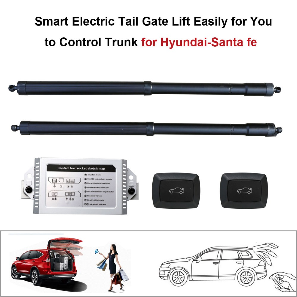 Smart Auto Electric Tail Gate Lift For Hyundai Santa Fe Control Set Height Avoid Pinch