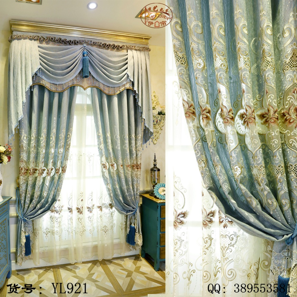 Popular Living Room European Luxury Curtains-Buy Cheap Living Room ...