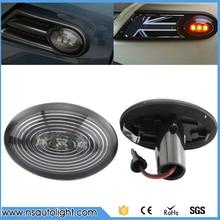 2 шт./лот светодиодные, боковые, габаритные фонари для BMW Mini COOPER R56 светодиодный сигнальный фонарь боковой поворота автомобильный Поворотный Светильник для Mini R56 Копченый янтарь
