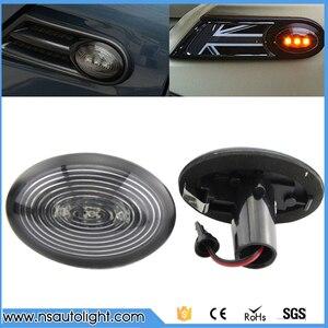 2 шт./лот светодиодные, боковые, габаритные фонари для BMW Mini COOPER R56, светодиодная сигнальная лампа с поворотом на боку, автомобильный поворотн...