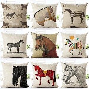 Various Cartoon Horse Printed