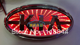 Kia freddy converted tail light car light after 3 d lighting LED logo light after the laser marking