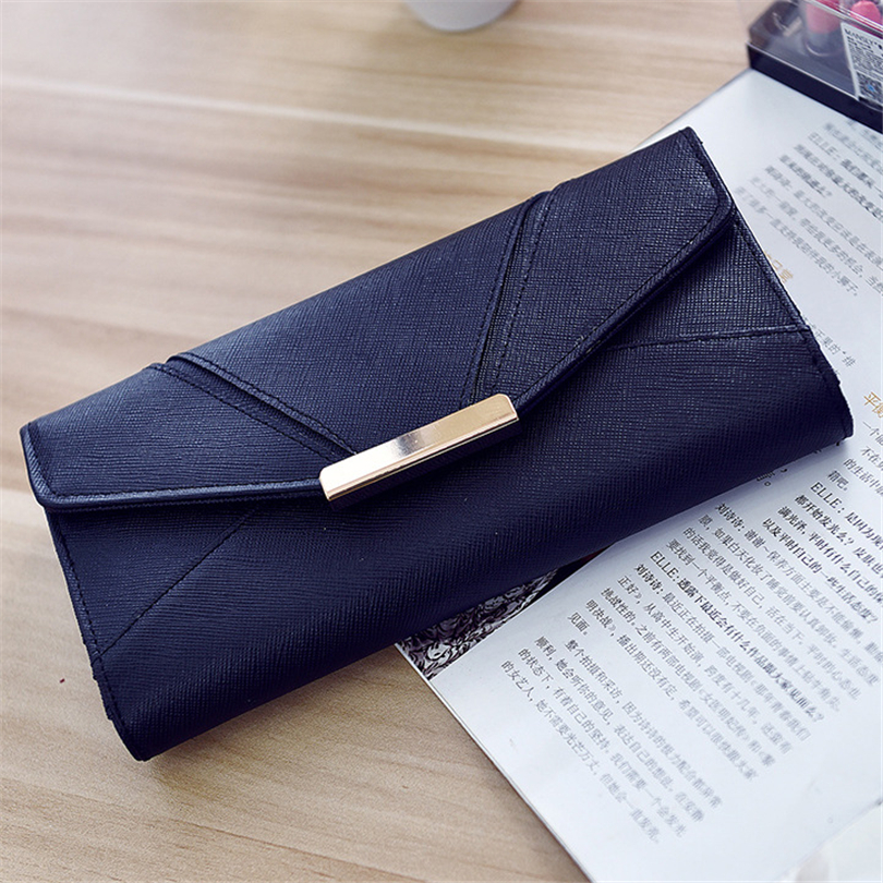 2017 New Wallet Female Solid Phone Clutch Purse Card Holder Coin Purse Credit Card Holder Money Case Women PU Leather Wallets