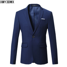 Solid Color Blazer Men 2018 New Men Blazer Dress Slim Fit Casual Mens Suit Jacket Weeding Party Single Button Male Blazers Coats