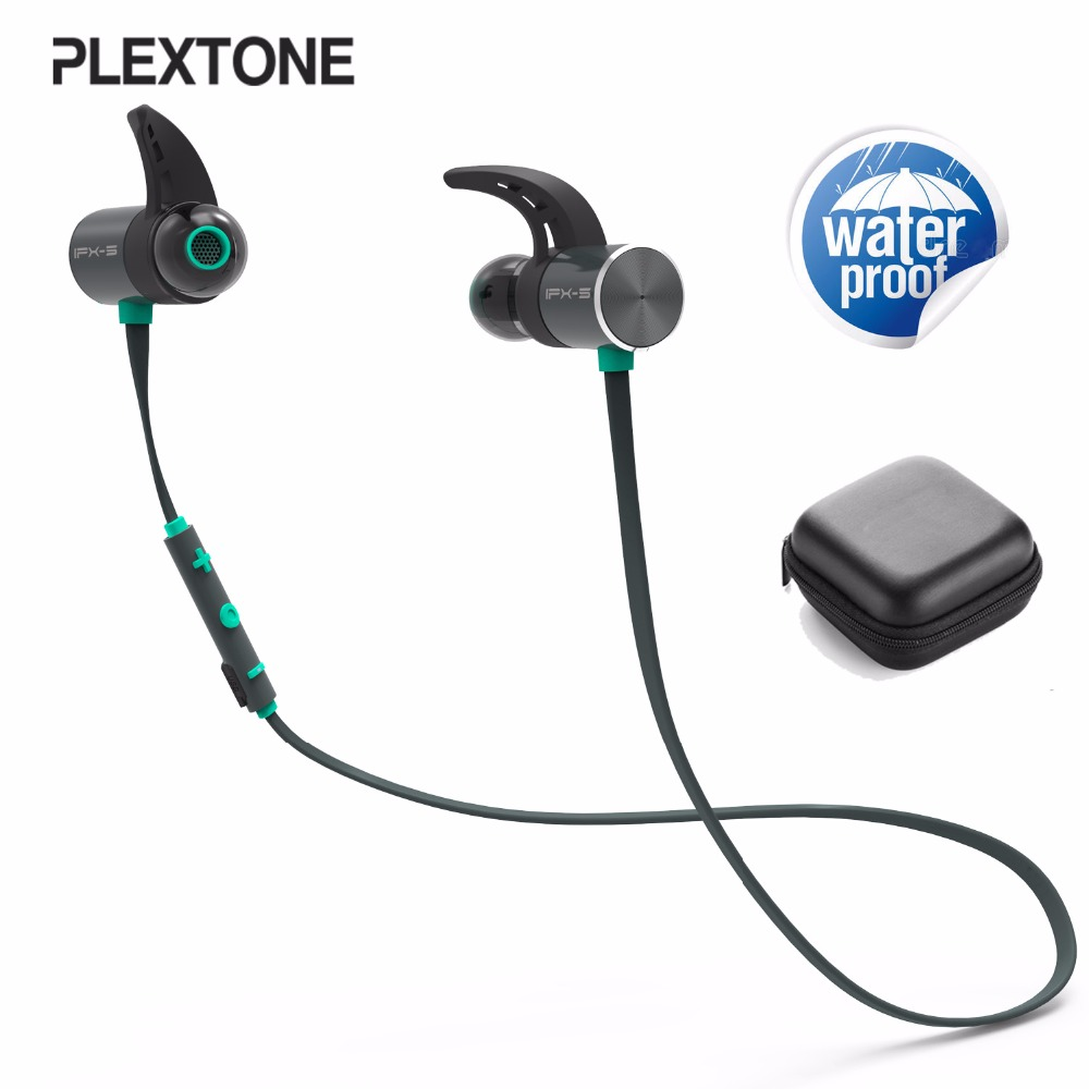 BX343 double battery V4.1 magnetic suction bluetooth earphone sport waterproof headset endurance metal music hendphones GRAND