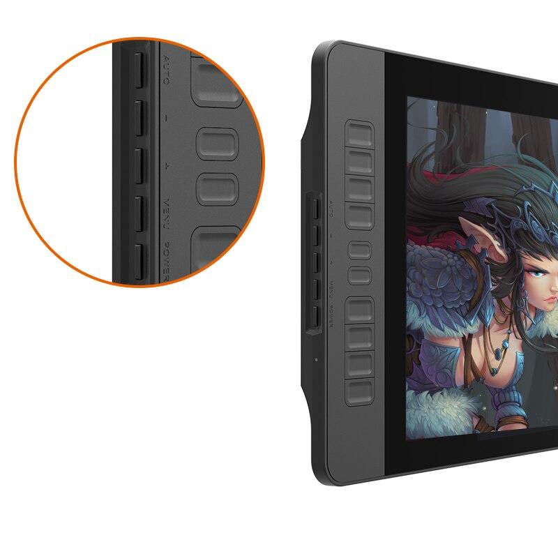 Moniteur de tablette graphique gapacket PD1560 15.6 pouces IPS HD Art 8192 levier affichage de stylo de sensibilité à la pression et gant de tablette de dessin - 3