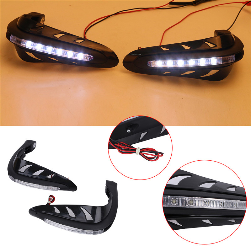 LED Signal Light Dual Road Handguard Hand Guard Brush Bar Motorcycle Street Bike for Harley Yamaha Ktm FALLING PROTECTION C/5