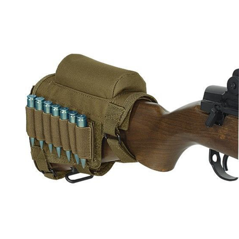 Hunting Gun Accessories Adjustable Rifle Shotgun Tactical Gun Support Pad Rest Shooting Pad Ammunition Box Cartridge Bracket Bag in Pouches from Sports Entertainment