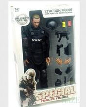 12″Soldier Action Figure SWAT Black Uniform Model Toy Military Army Suit