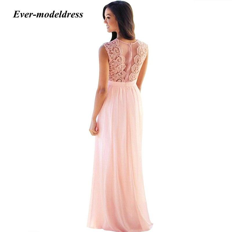 2019-Blush-Pink-Lace-Bridesmaid-Dresses-Jewel-Sleeveless-Sheer-Back-A-Line-Long-Maid-of-Honor (2)