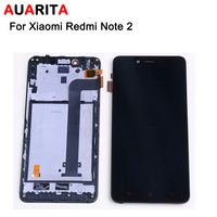 5pcs Lot LCD For Xiaomi Redmi Note 2 LCD Display Touch Screen Digitizer Assembly With Frame