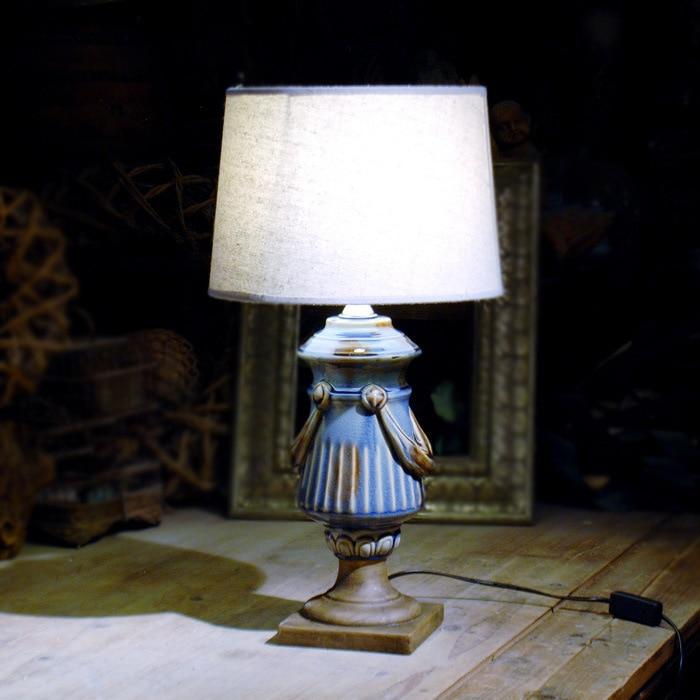 Туда 30,5X60 см Бесплатная доставка Винтаж Стиль Керамика настольная лампа Керамика ремесла Настольная лампа для гостиной ночники e27