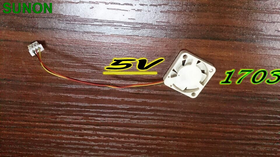SUNON 1.7 * 1.7 * 0.3 cm  1703 UF5H5-503 5V 3 wire waterproof micro mini axial cooling fan dhl ems 5 lots brand new sunon kde2412pmb1 6a 120x120x38mm 12cm cooling fan axial 24vdc 10 3w
