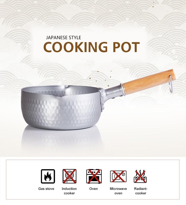 16/18/20/22/24 CM Japanese Style Aluminium Pan Milk Soup Heating Pot Gas Cooker Cooking Pan Kitchen Helper