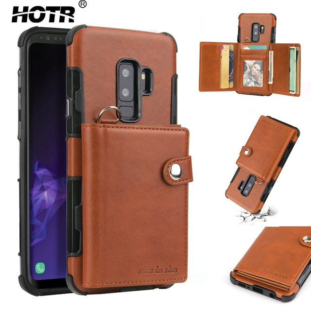 info for ed84f ee934 US $8.59 20% OFF Lanyard Cord PU Leather Back Case for Samsung Galaxy s8  S8plus Note 8 Card Inset Full Protect Case for Samsung Galaxy S9 S9 Plus-in  ...