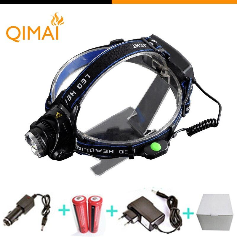 2000 Lumens Led Headlamp CREE XML T6 LED Headlamp 18650 Flashlight 3 Modes Waterproof Head Lamp