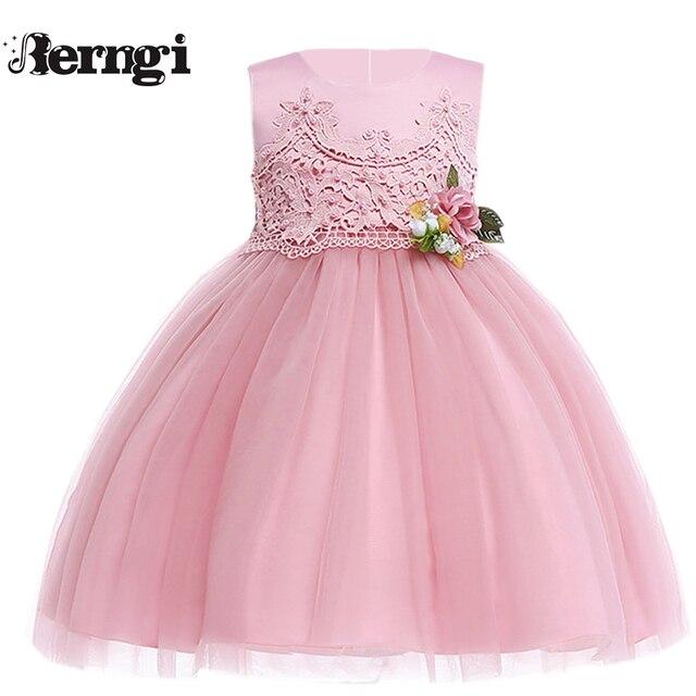 4cdad672a Vestido de fiesta Formal de flores de tul bordado de encaje de princesa para  chicas adolescentes