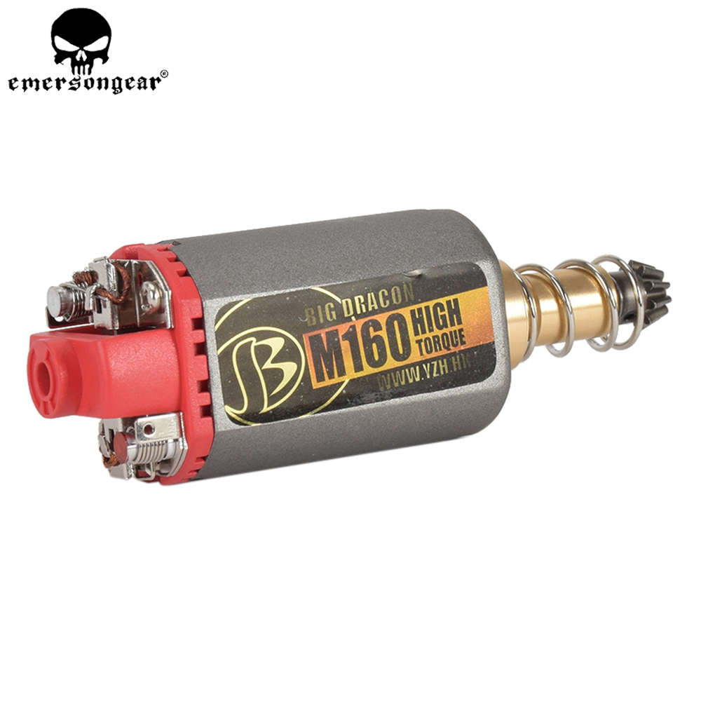 EMERSONGEAR Terminator Ultra Custom M160 High Twist Type High Speed Motor High Torque AEG Motor Long Axis for Airsoft M4/MP5 M16