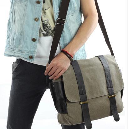 homens do café sacolas crossbody Material Composição : Canvas Bag