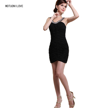 Bodycon Dresses Little Black Dress Women Ladies Elegant Party Formal Dress Criss-Cross Ruched Halter Slim Mini Robe de Cocktail white suede criss cross back mini slip dress
