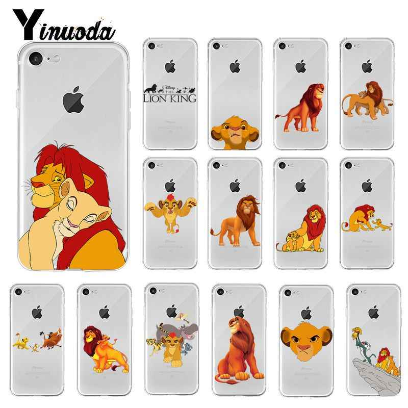 Yinuoda Lion King Simba Cartoon fashion Phone Case Cover for iPhone 6S 6plus 7 7plus 8 8Plus X Xs MAX 5 5S XR 10 11 pro max