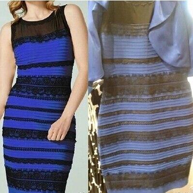 La robe bleu noir or blanc