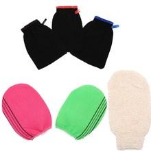 Bath Exfoliating Glove Body Scrub Gloves Bath Shower Scrubber Dead Skin Remover for Men Women Wash Skin Spa Towel 3 styles