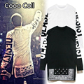 Fashion Hip hop kanye Men's hip-hop T-shirt swag justin bieber zipper stitching side zipper T-shirt free shipping HBA Cooo Coll