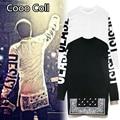 Moda Hip hop T-shirt dos homens hop kanye presa justin bieber HBA zipper costura T-shirt zíper lateral frete grátis Cooo Coll
