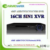 Marviosafer 16CH 16 Channels 4MP 1080P AHD H TVI CVI AHD DVR AVR XVR HVR Video Recorder CCTV Camera Recording HDMI VGA Output