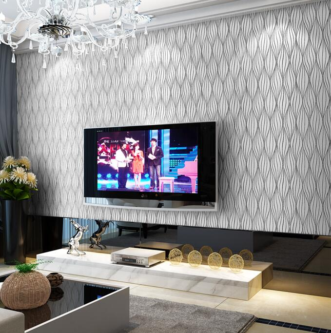 Aliexpress  Buy Embossed Leaf Curve Modern Striped 3D - 3d wallpaper for living room