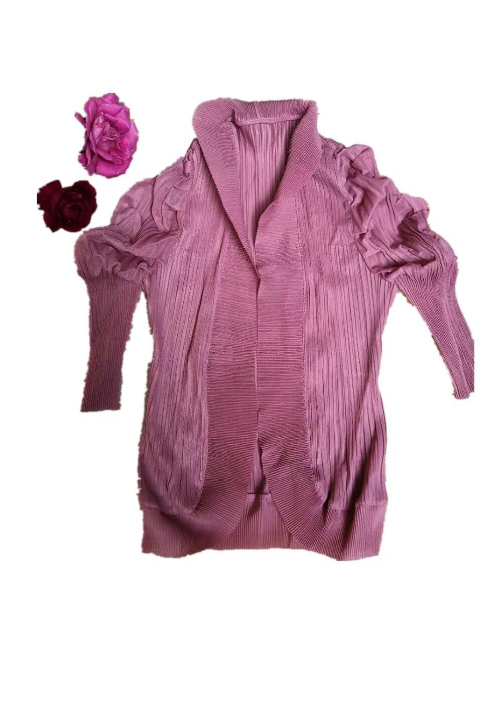 Miyake  Spring 2019 New Fashion European and American Short Jacket Loose Temperament Cardigan free shipping