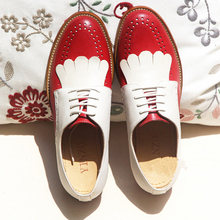 النساء حذاء مسطح جلد طبيعي جولة تو شقة منصة البروغ السيدات الصيف امرأة المصارع شقة أحذية بنعل مطاطي 2020