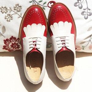 Image 1 - נשים נעליים שטוחות עור אמיתי בוהן עגול דירות פלטפורמת נעלי גבירותיי קיץ אישה גלדיאטור שטוח גומי sole נעלי 2020