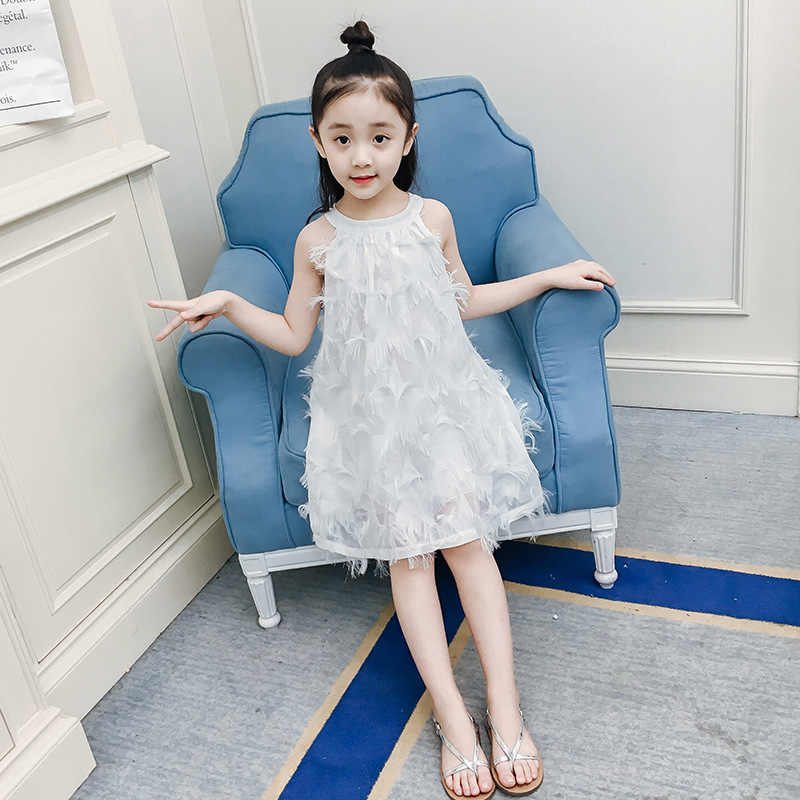 7650f2ab40bd ... elegant princess tassel lace pink dress 4- 14 teenage girls summer  clothes kids children 2019