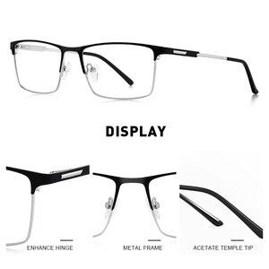 Image 2 - MERRYS 디자인 남자 티타늄 합금 안경 프레임 남성 광장 초경량 눈 근시 처방 안경 남성 절반 광학 S2047