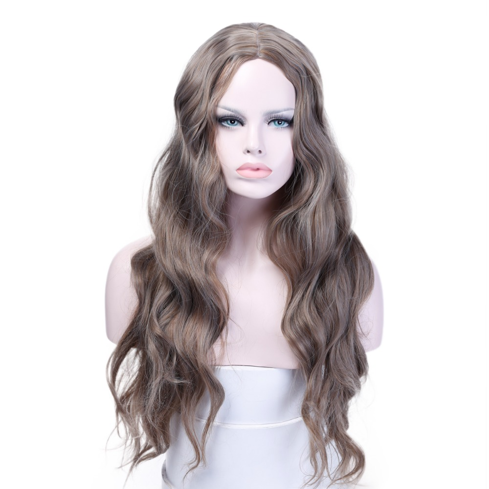 Long Wavy Womens Wigs Heat Resistant Synthetic Cosplay Wigs for Women African American Costumes Wig JINKAILI ...