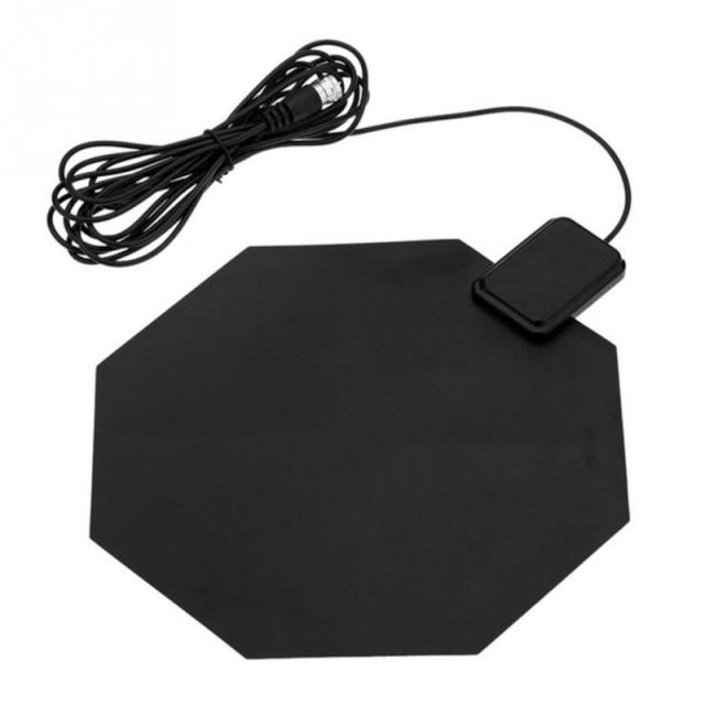 US $5 96 |450 860MHz Amplified HD 1080p Flat Home UHF Digital Analog Indoor  Long Range TV Antenna For PC Notebook DTV HDTV-in TV Antenna from Consumer