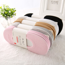 10 Pairs Women Sock Slippers Candy colors Non-Slip Silicone Cotton Shallow Mouth Socks Casual Pure Color Sock Calcetines Mujer