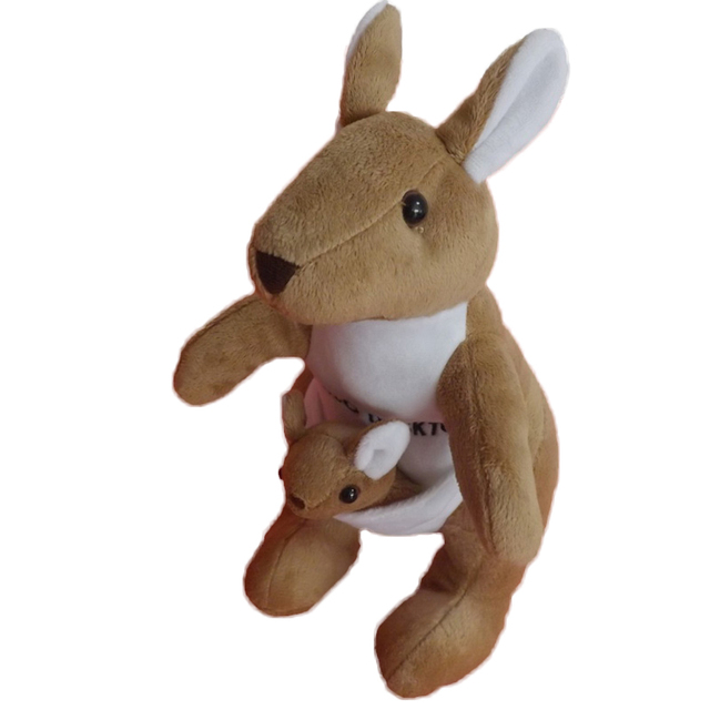 27cm Austrian Kangaroo Plush Toys For Children Stuffed Animal Soft