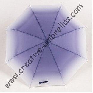 Mini parapluie de médaillon créatif, STYLE boeuf, parasol, supermini, parapluies de gradient de couleur, changeant progressivement de couleur, parapluies de princesse